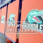 Hình in cá sấu vải cam