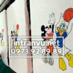 Hình in Chuột Mickey và vịt Donal