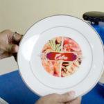 Quy trình in chuyển nhiệt lên đĩa sứ