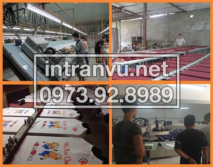 Mô hình xưởng in áo thun