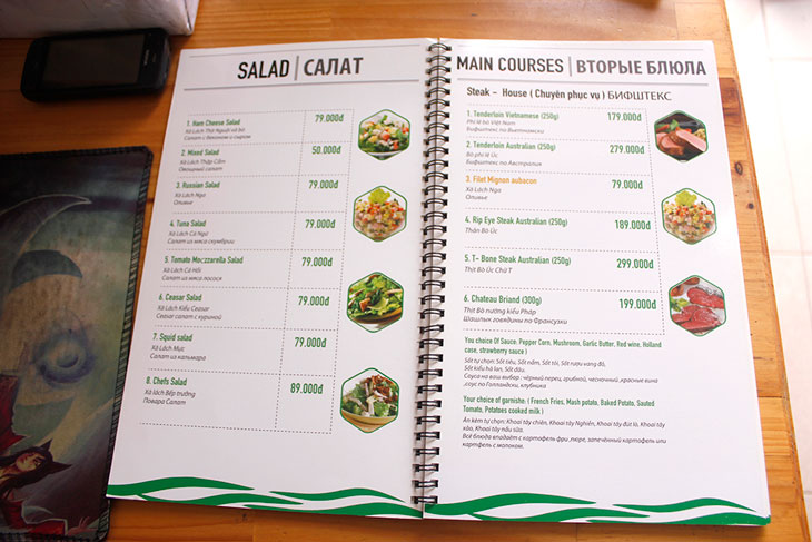 thiết kế menu quán ăn với những lưu ý